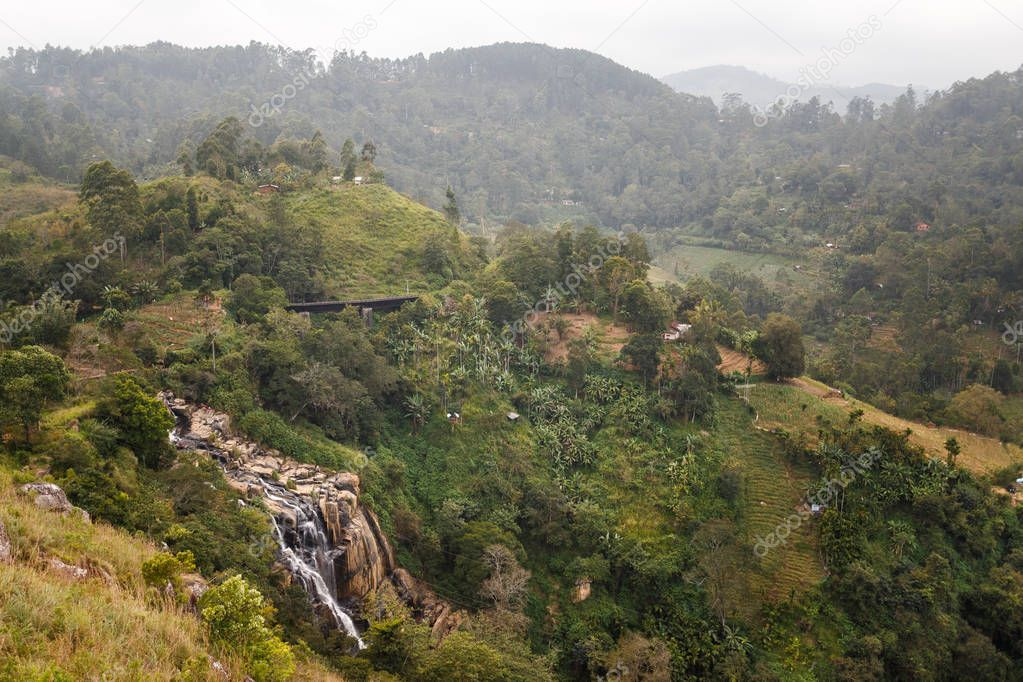 Beautiful waterfall tropical