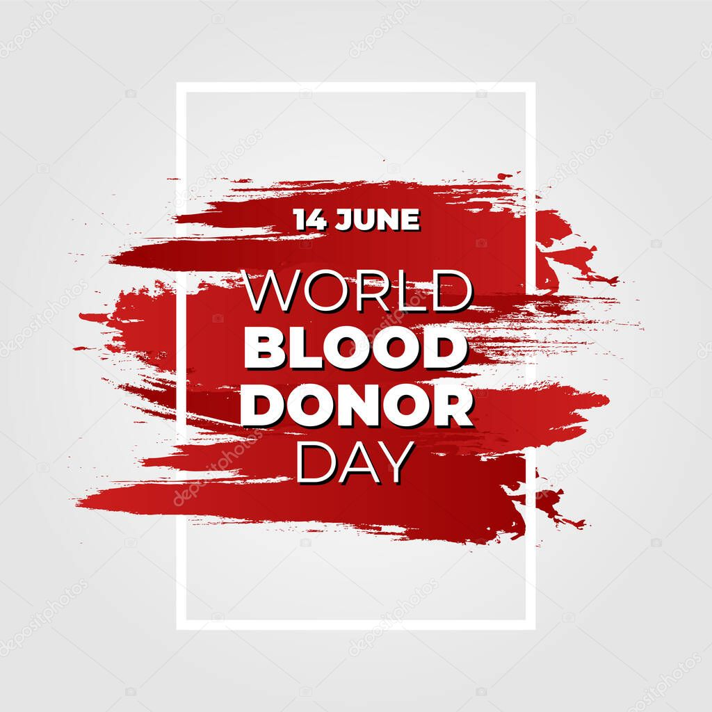 Vector illustration of Donate blood concept for World blood donor day-June 14 icon