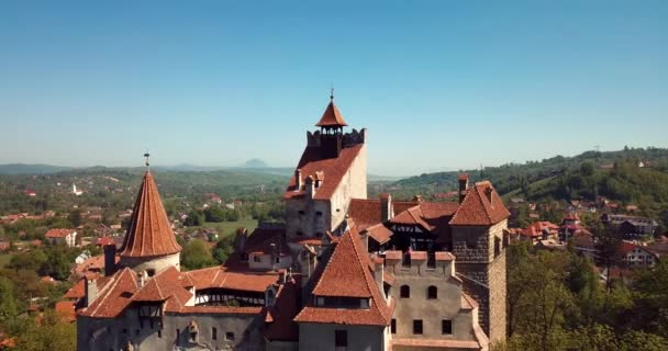 Aerial View to the Bran Dracula: Castle in Brasov, Romania