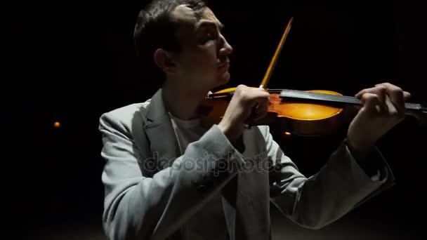 Musician violinist man playing violin