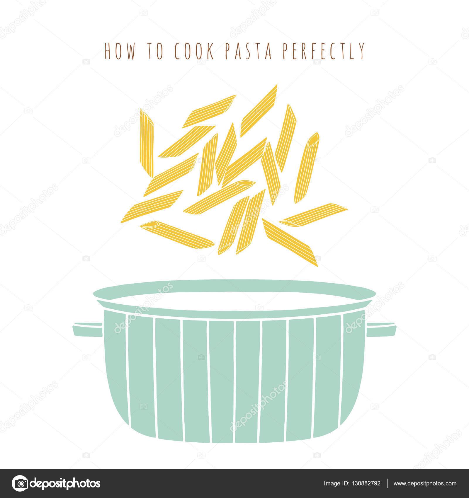 pasta di penne e l'illustrazione di vettore del vaso ? vettoriali ... - Come Cucinare Pasta