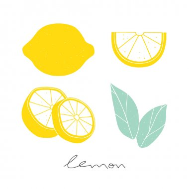 Vector lemon set
