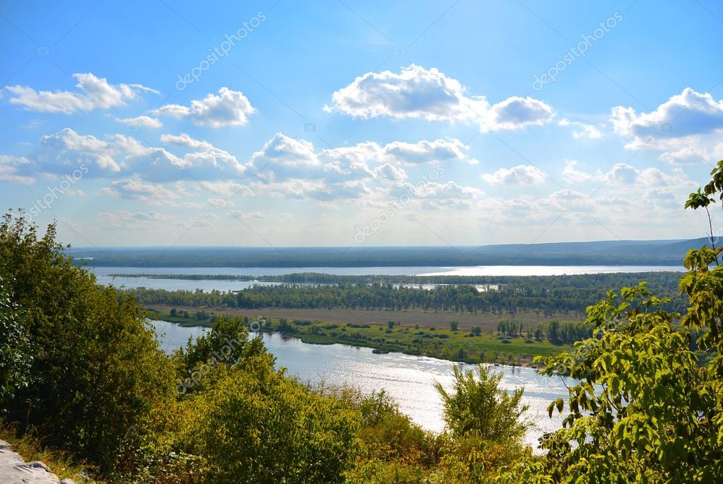 Panoramic View From The Hill On The The Volga River Near Samara - The volga river