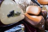 Indického motocyklu logo na motorce vintage styl
