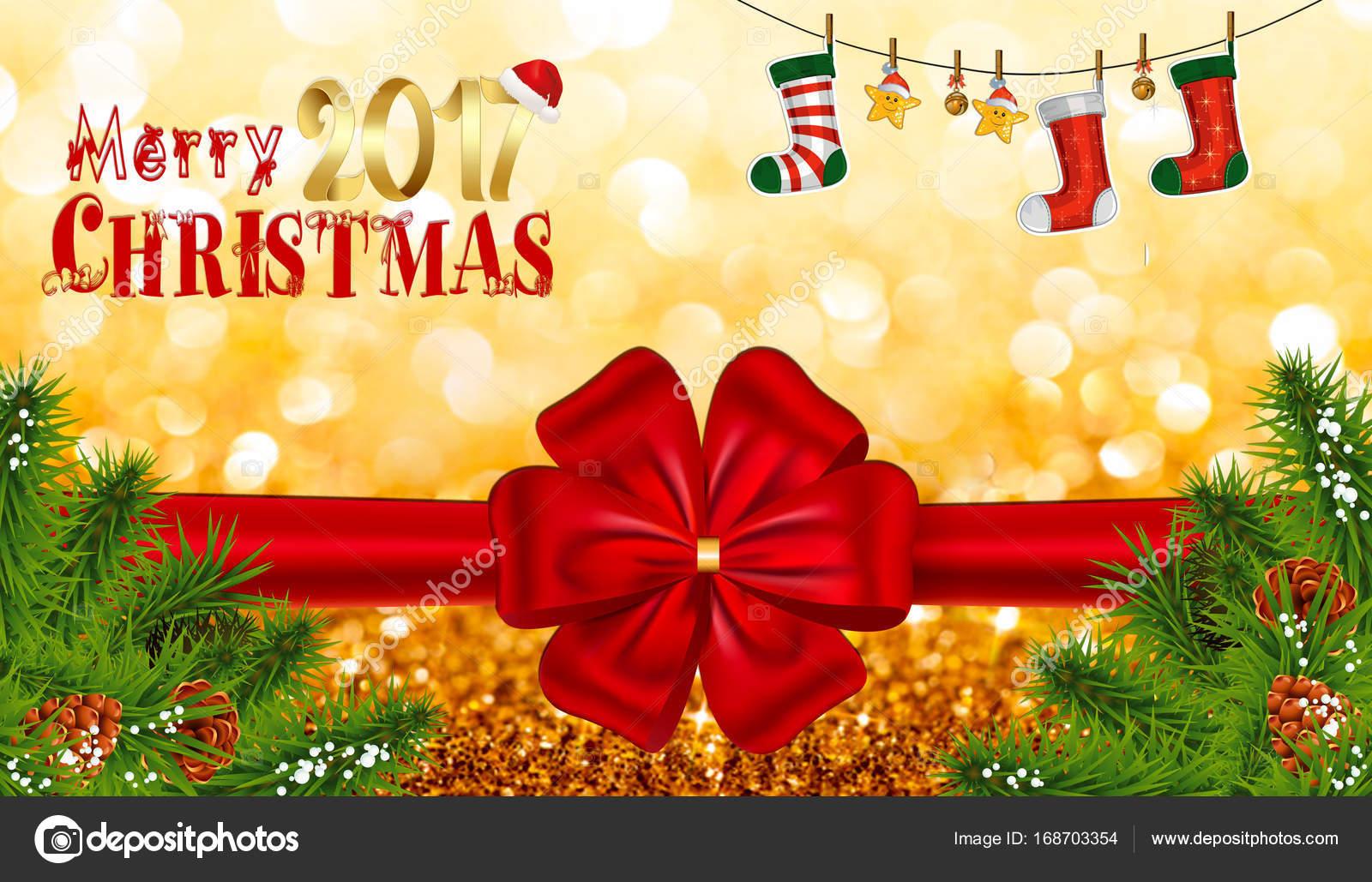 Frohe Weihnachten Text Karte mit Bokeh Hintergrund — Stockfoto ...