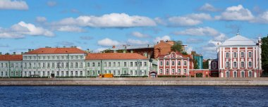 View of the buildings of St. Petersburg State University. Saint Petersburg, Russia