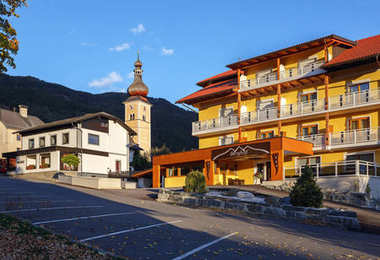 OBERMILLSTATT/ AUSTRIA - OCTOBER 8, 2017. Fall in the alpine village Obermillstatt. Gurktal Alps (Nock Mountains), state of Carinthia, Austria.