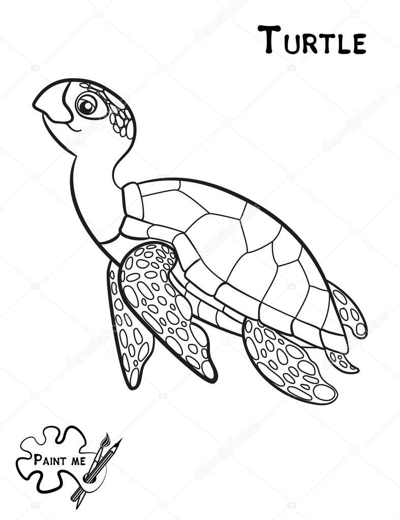 Diyor çocuk Boyama Kitabı Bana Boya Deniz Hayat Kaplumbağa Stok