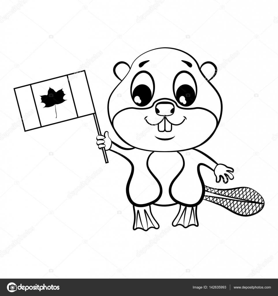 Imágenes Castor Caricatura Para Colorear Castor Con