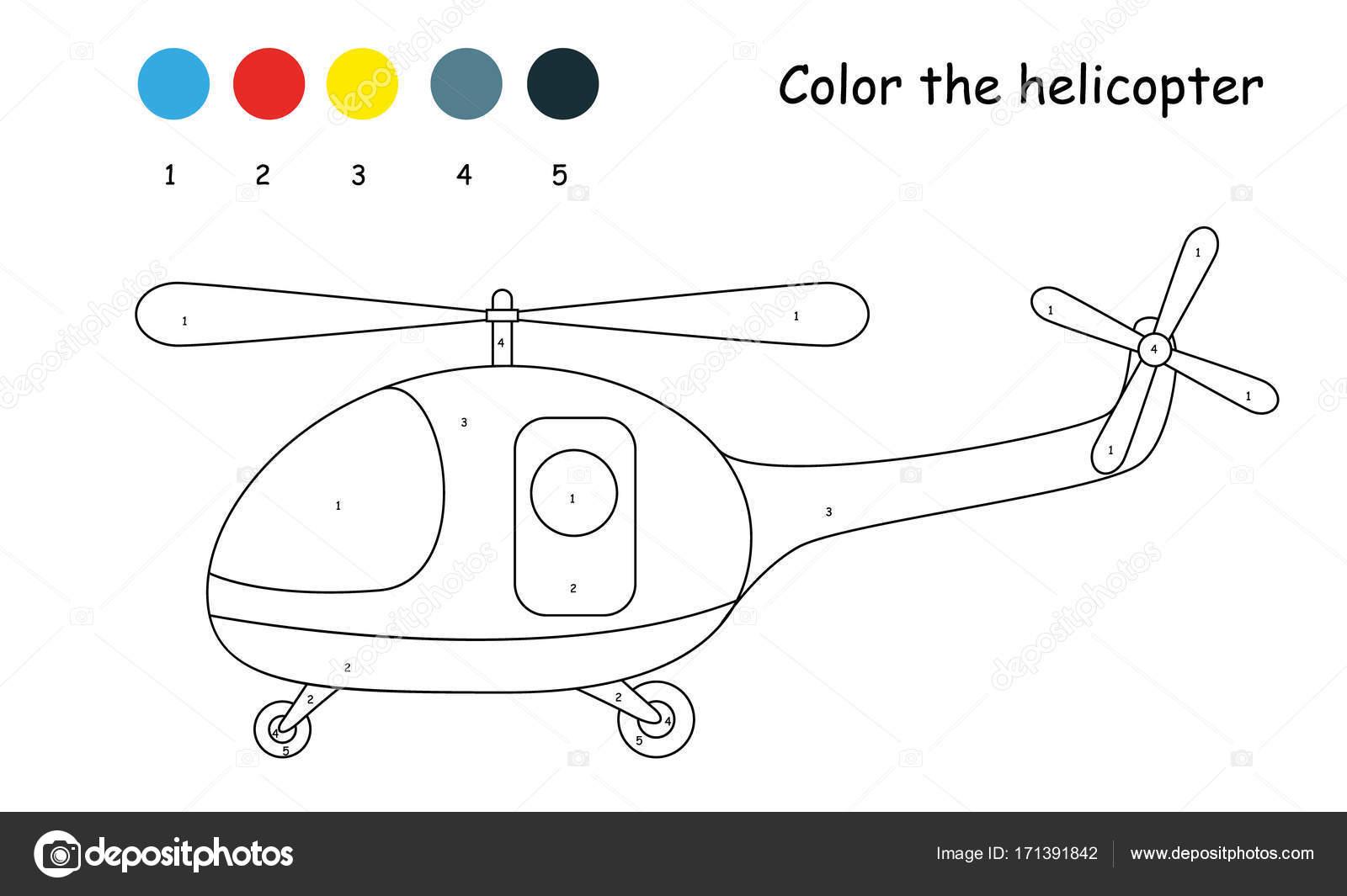 Contorno de los niños para colorear para el helicóptero más pequeño ...