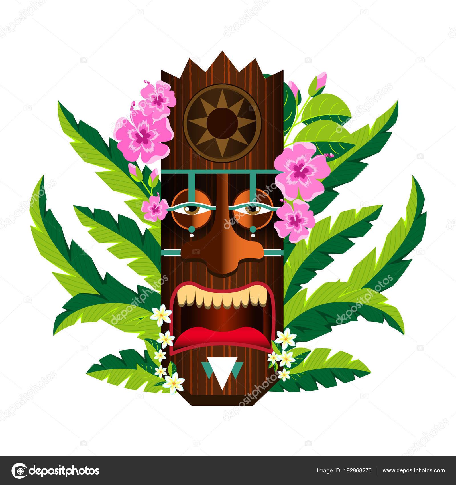 Mascaras Hawaianas Para Imprimir Mascara Con La Imagen Del Sol