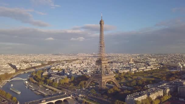 Aerial view of Eiffel tower