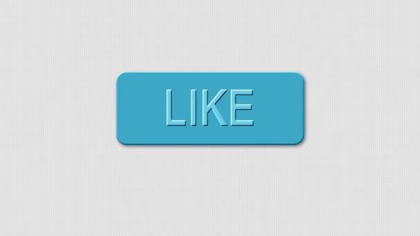 34b38dae1 Animación - sistema moderno como los iconos azul. Botones de icono como en  la red social. Hay un clic con el ratón– metraje de stock