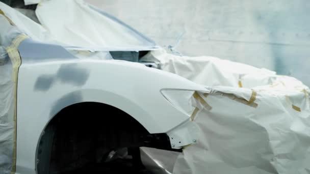 Bir Garajda Araba Boyama Süreci Stok Video Kustvideo 191076942