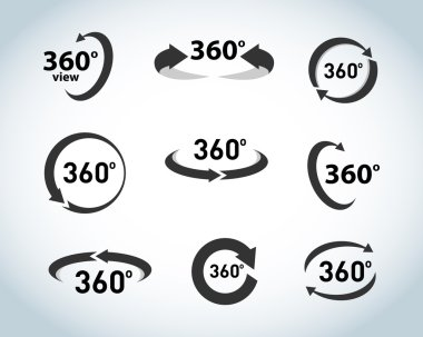 360 Degrees View Icons