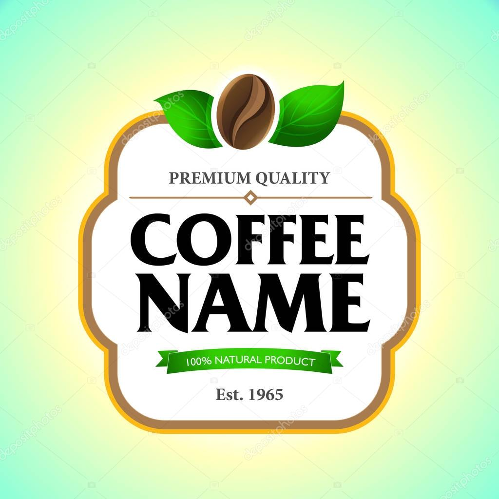coffee label template stock vector ideasign 130174454