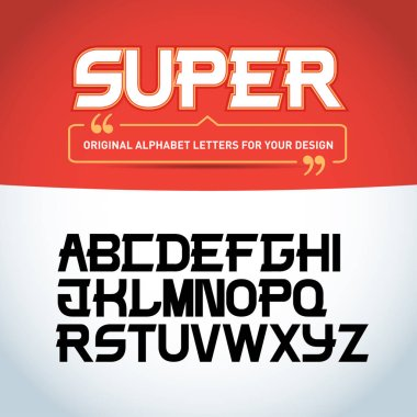 Original alphabet letters for design, vector illustration clip art vector