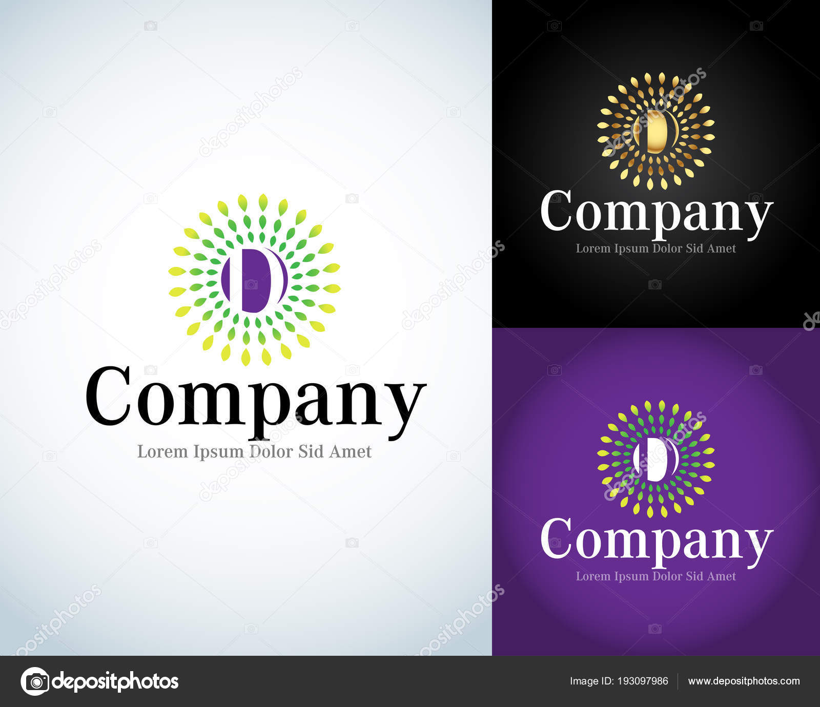 Letter Logo Template Letter Design Vector Rays Type Characters