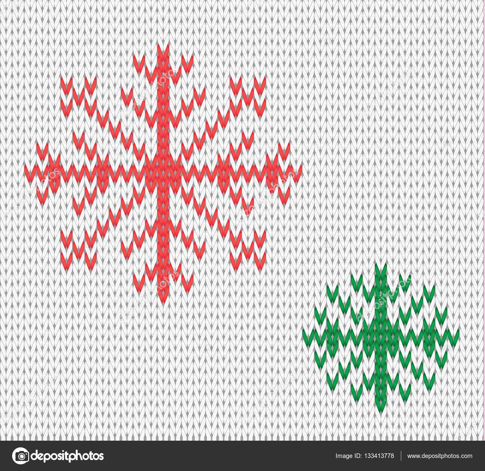 Punto de patrones sin fisuras con los copos de nieve. Fondo de lana ...