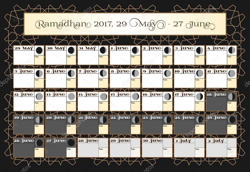 ramadan kalender 2017 29 mai berpr fen sie datum auswahl beinhaltet fasten tick kalender. Black Bedroom Furniture Sets. Home Design Ideas