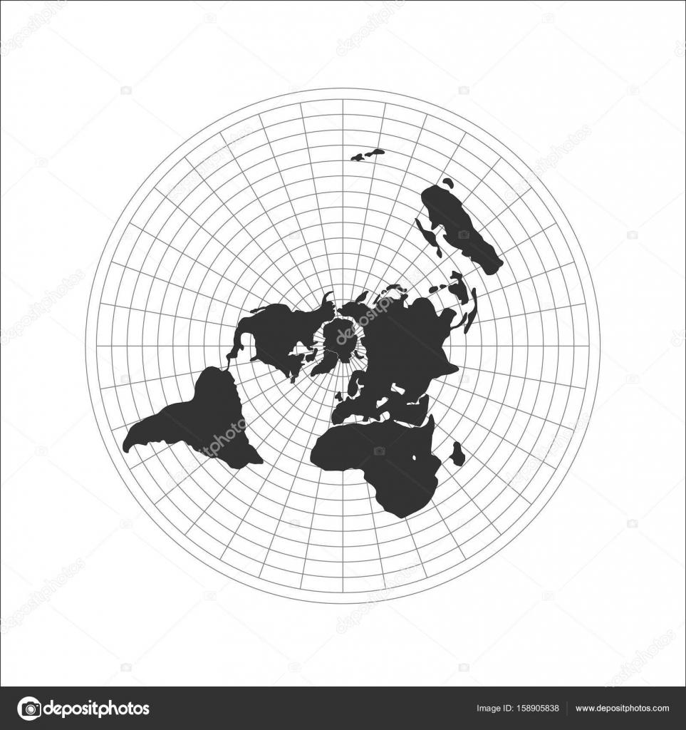 Official Flat Earth Map.Flat Earth Map Logo Vector Illustration Stock Vector C V Ctoria