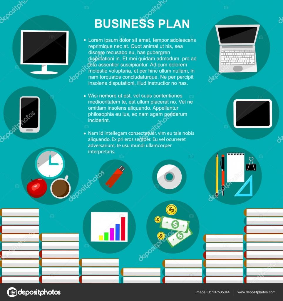 Vector de plantilla de concepto de plan de negocios — Archivo ...