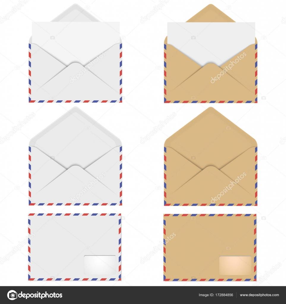Vector Sobre Tamaño Carta Sobres Para Tarjeta Carta O