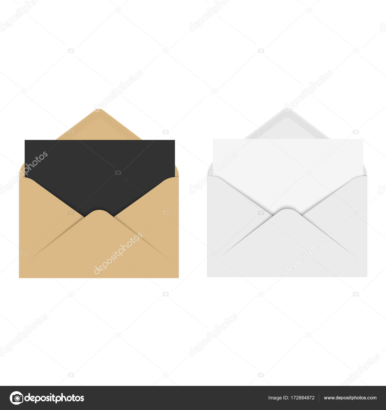 Realistic mockup envelope for letter or invitation card vector realistic mockup envelope for letter or invitation card vector stock vector stopboris Choice Image