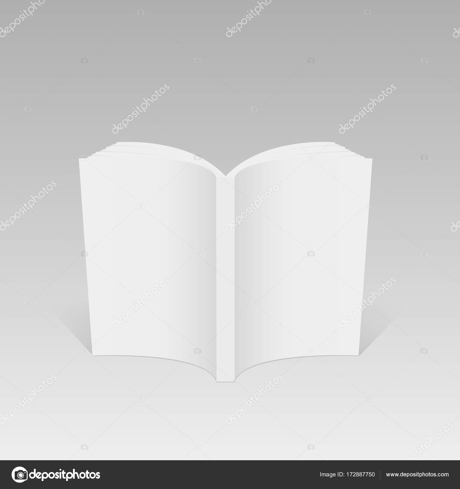Der geöffnete Buch, Zeitschrift oder Broschüre Vorlage leer ...