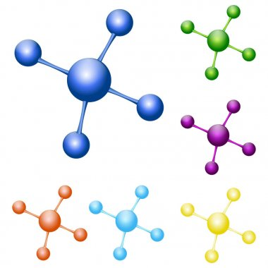 Vector template for chemistry molecule or dna