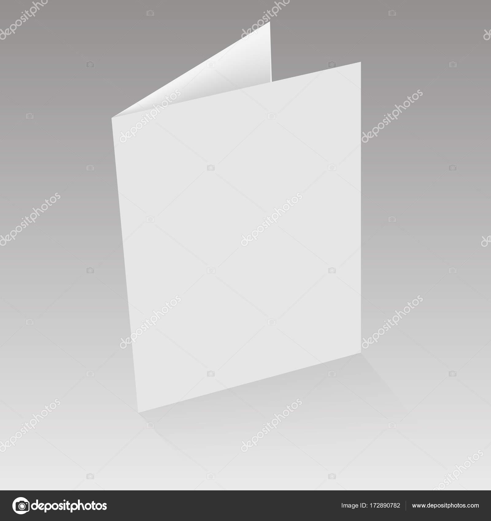 Maquette Magazine Ouvert Journal Brochure Carte Postale Flyer De Visite Ou Illustration Vectorielle Stock