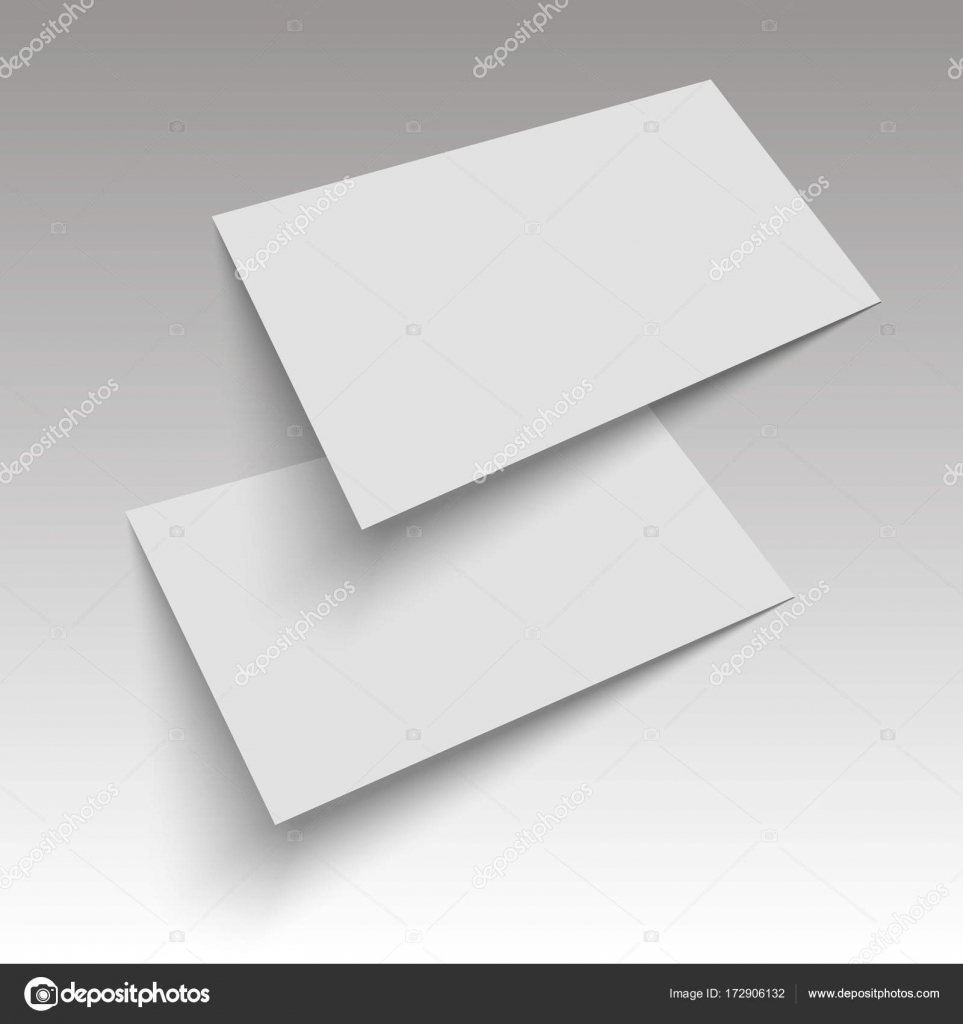 A flyer, business card, booklet, postcard. mock up template. Vector ...