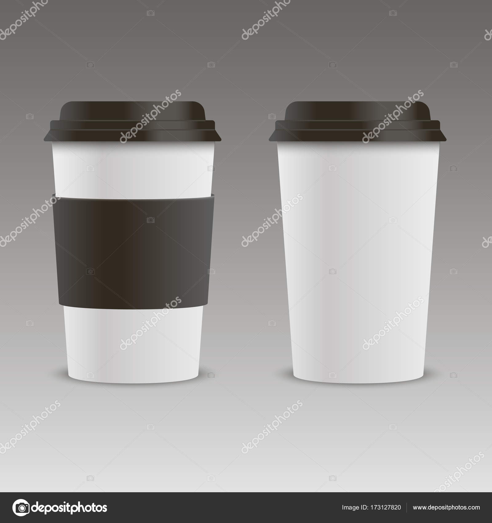 Realistische Kaffeetasse mock-up. Vektor — Stockvektor © AzFree ...