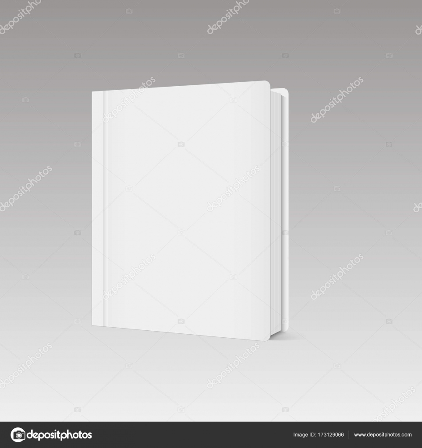 Leeres vertikale Buch Cover Vorlage mit Seiten vorne seitlich ...