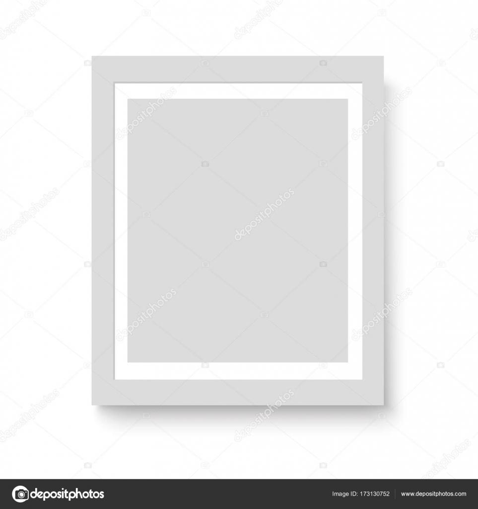Matte weiße Bilderrahmen für Ihre Präsentationen. Vektor ...