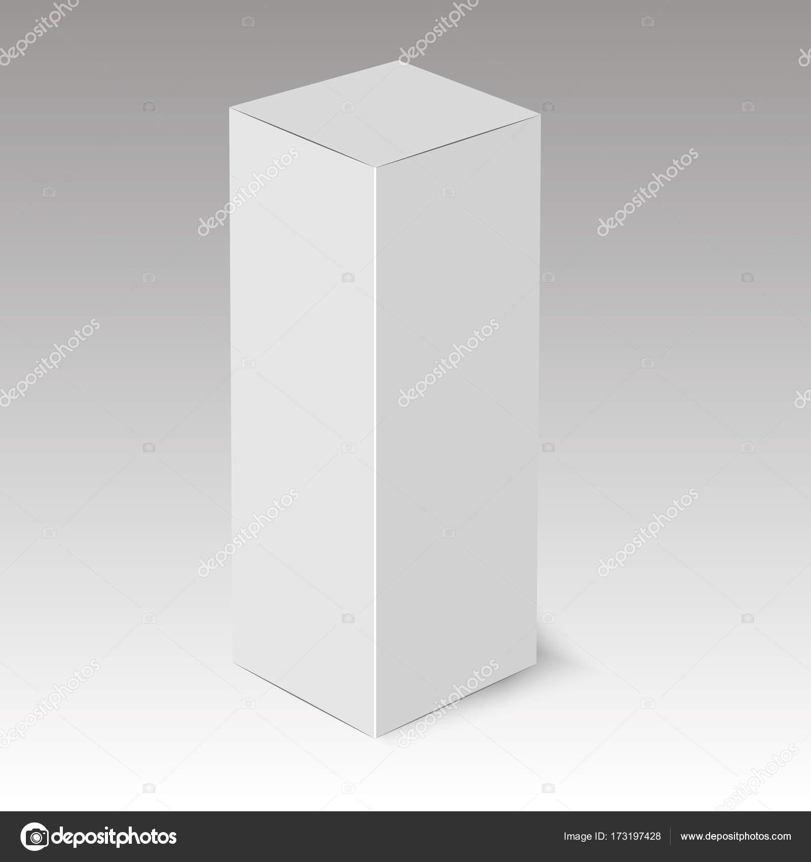 Plantilla de caja de cartón o papel en blanco. Ilustración de ...