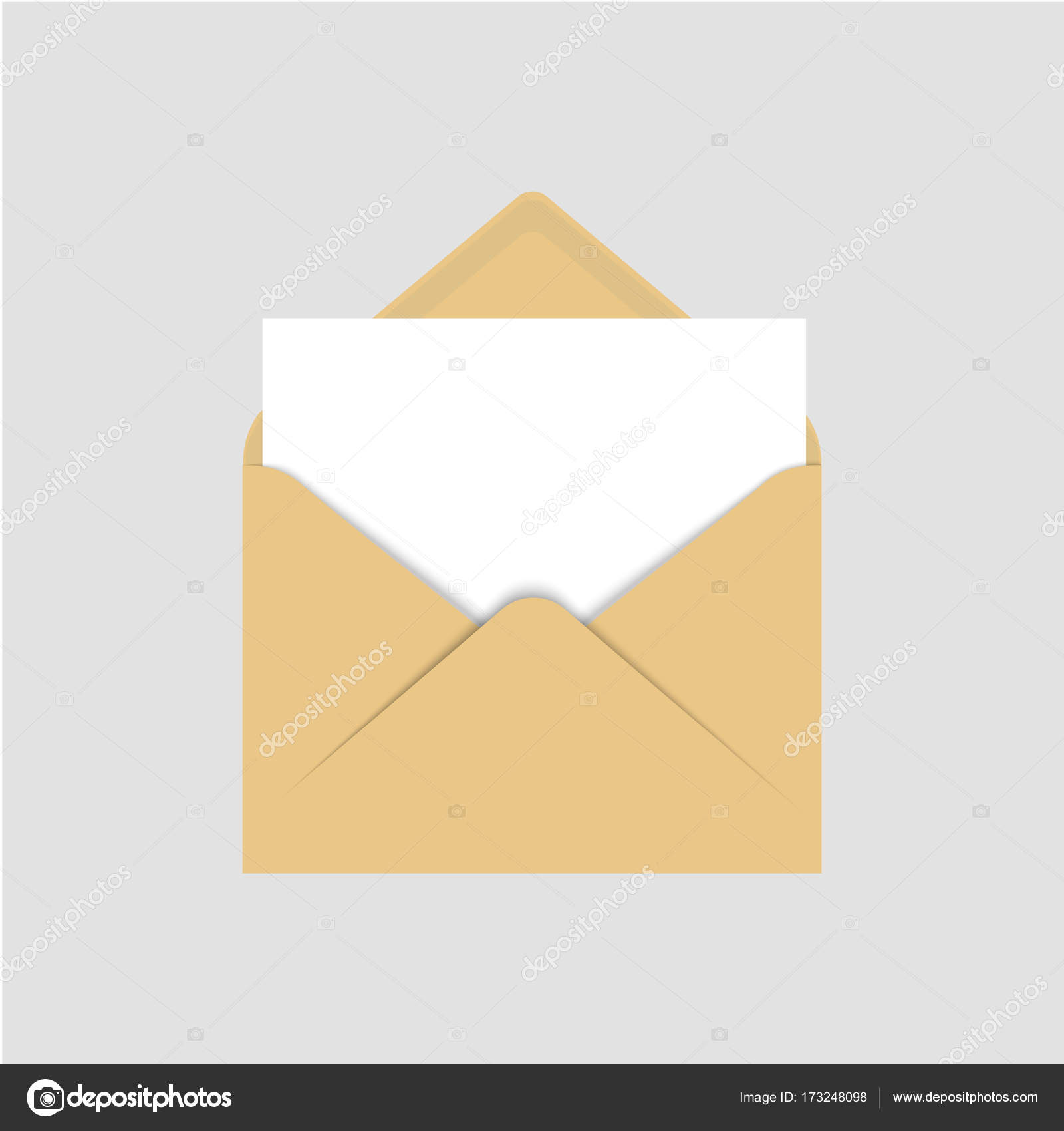 letter template empty  Realistic blank template of brown paper envelope with empty ...
