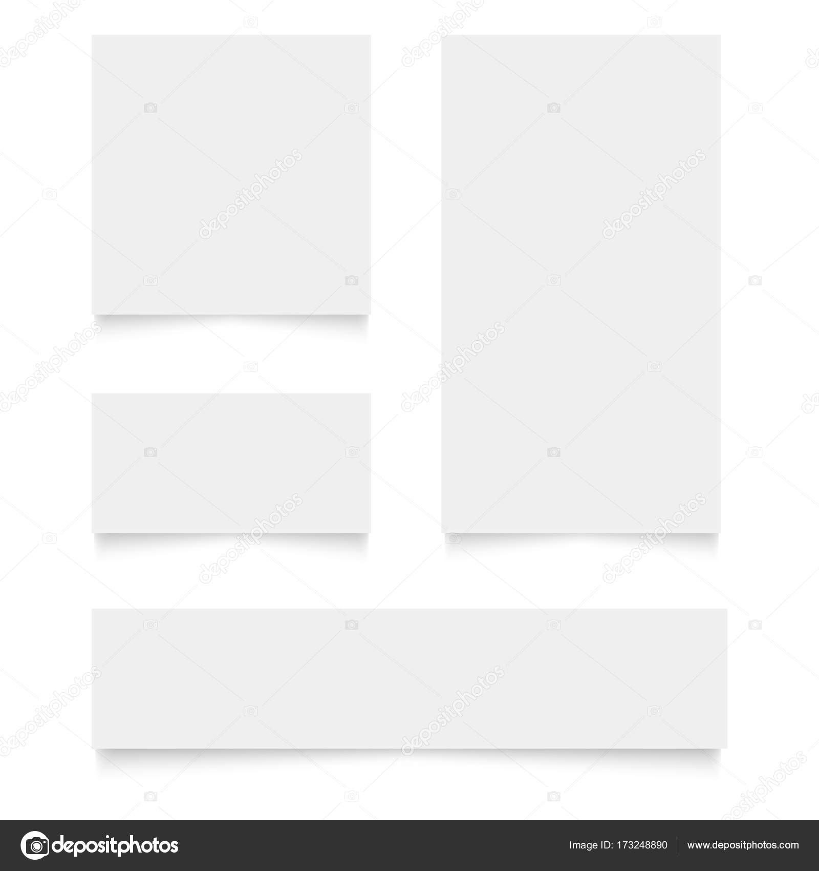 Blank business cards set. Vector illustration for your design ...