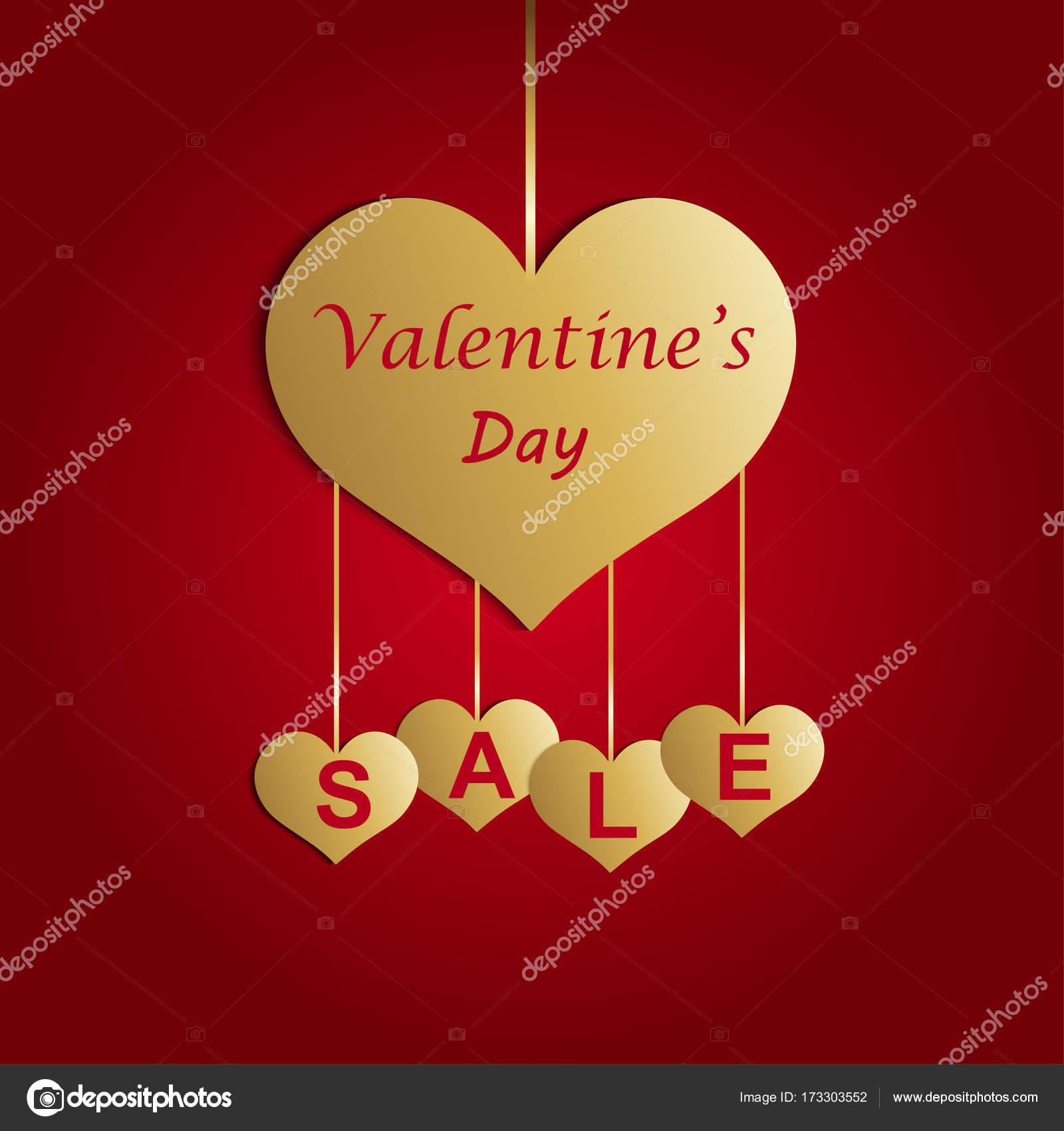 Valentinstag-Angebot, Banner Vorlage. Valentines Heart Verkauf Tags ...