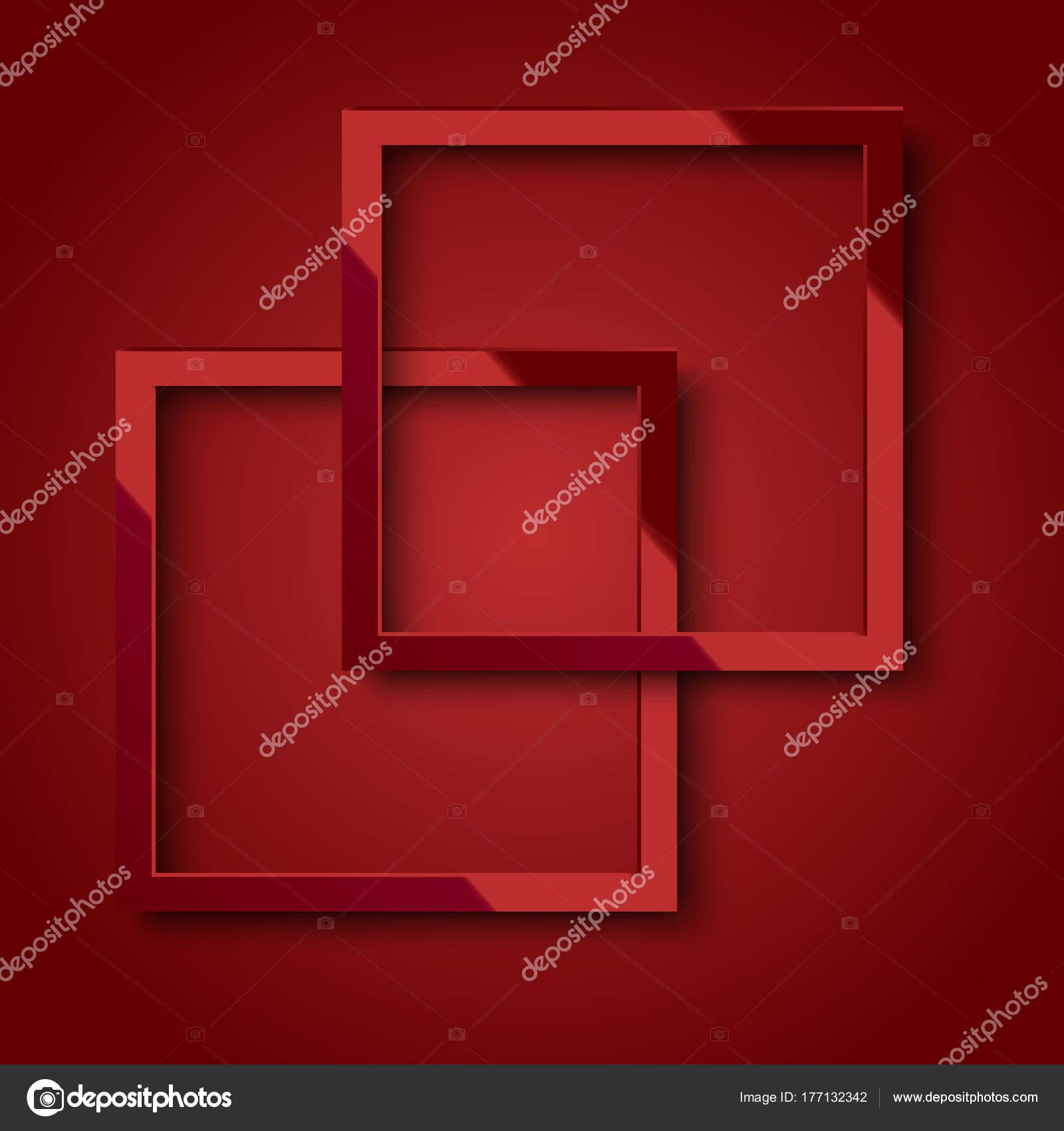Realistische rotes Quadrat Rahmen für Ihr Design oder Plakat. Vektor ...