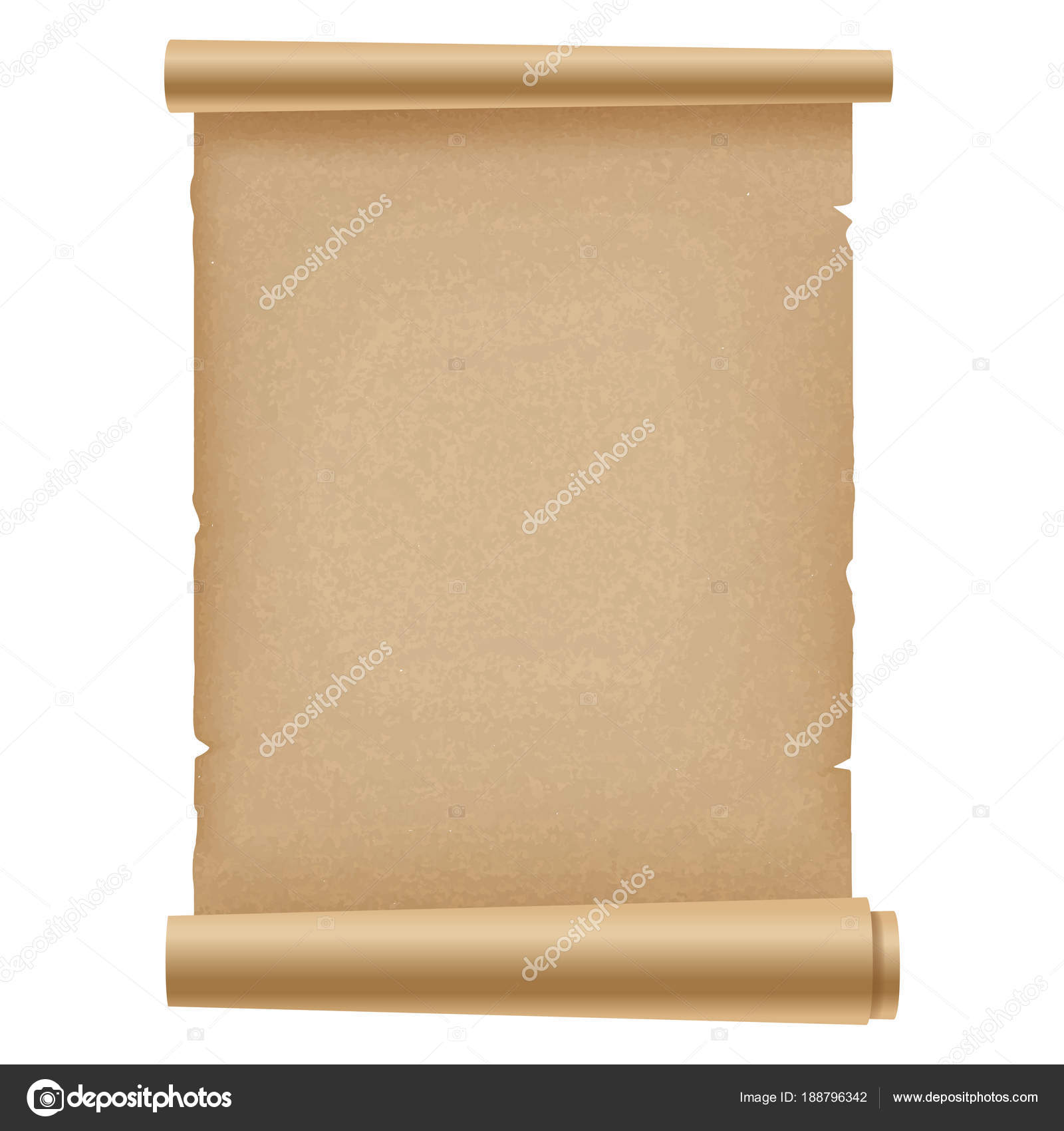 Realistic ancient opened scroll of papyrus . Vector. — Stock Vector ...