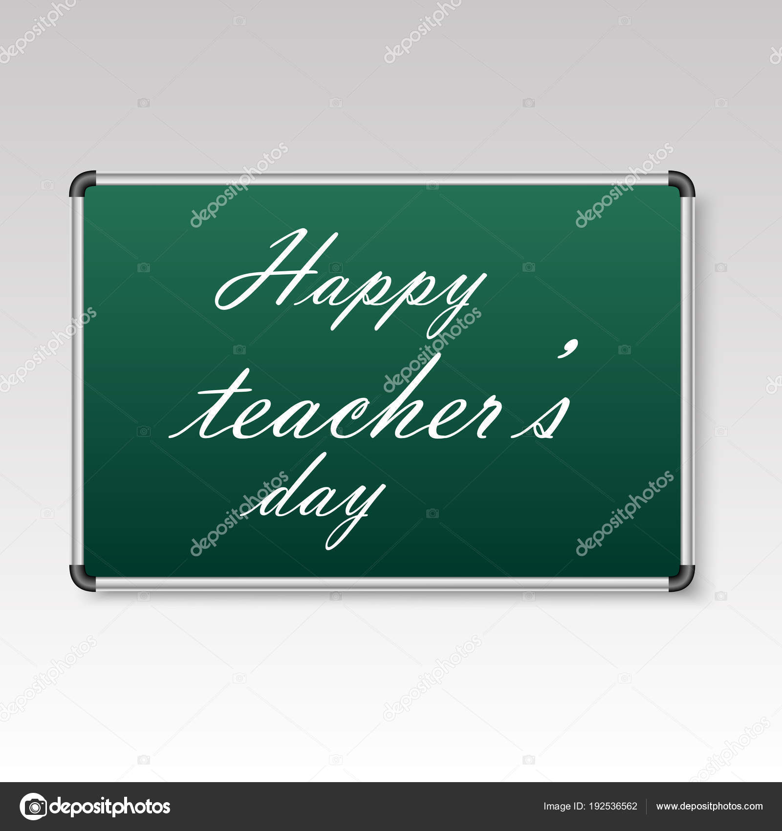 Happy Teachers Day Greeting Card With Hand Written Text Vector