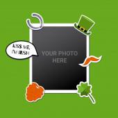 Fotorámeček pro vložení obrázku zdobený symboly St. Patricks. Skvělé pro album alb alb alb alb. Vektor