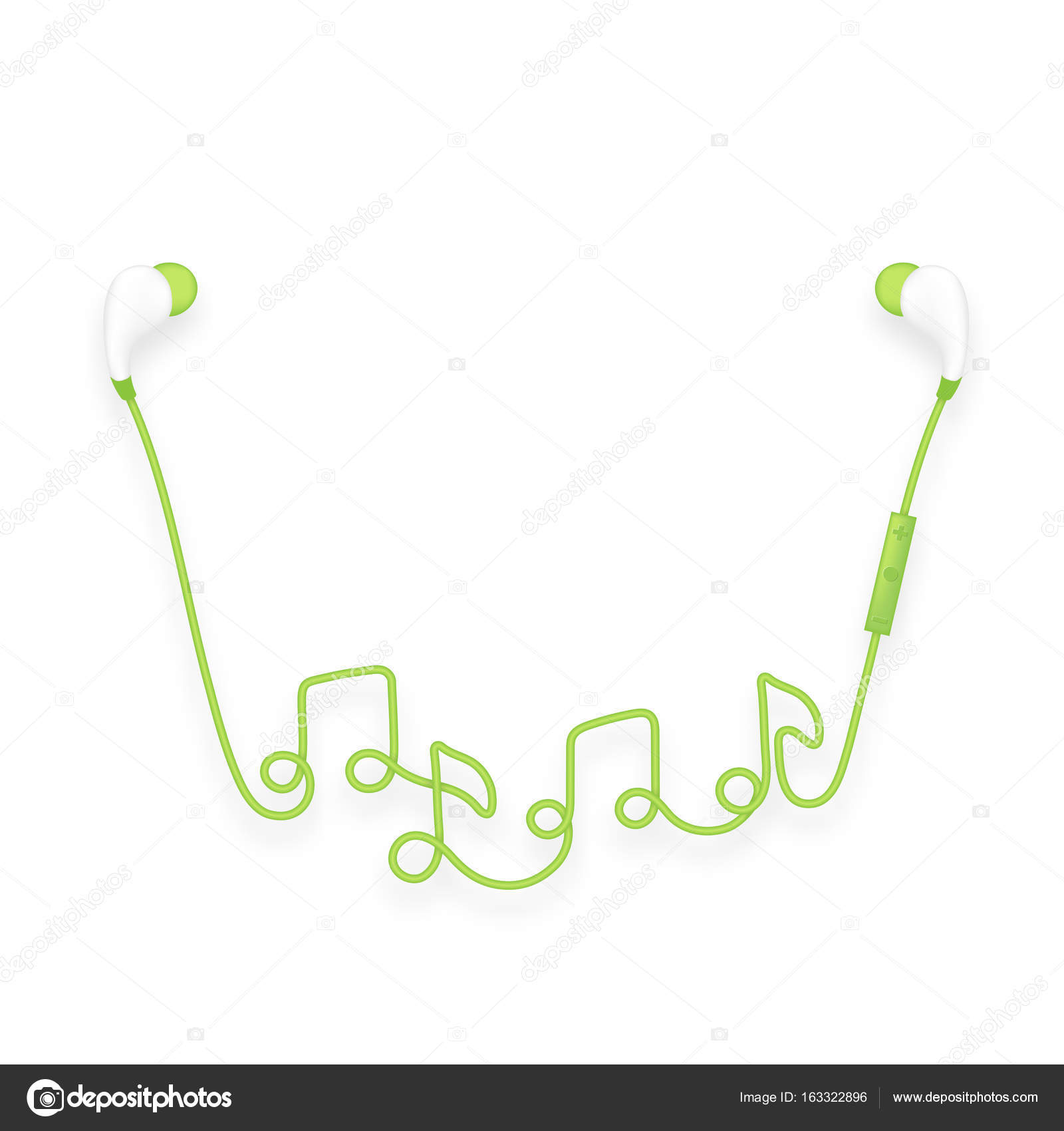 Earphones Wireless And Remote In Ear Type Green Color And Music