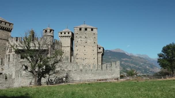 Středověký hrad Fenis Aosta Itálie Italia architekturu památka Turistika cestování