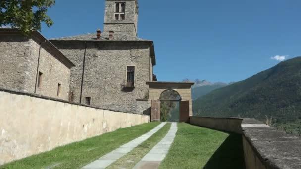 Medieval castle Sarre Aosta Italy Italia entrance monument art tourism travel