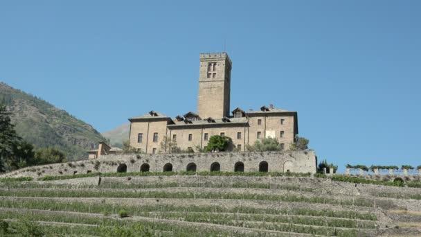 Medieval castle of Sarre Aosta Italy Italia monument art tourism travel