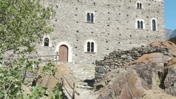 Medieval castle Ussel Aosta Italy Italia old fortress tourism travel