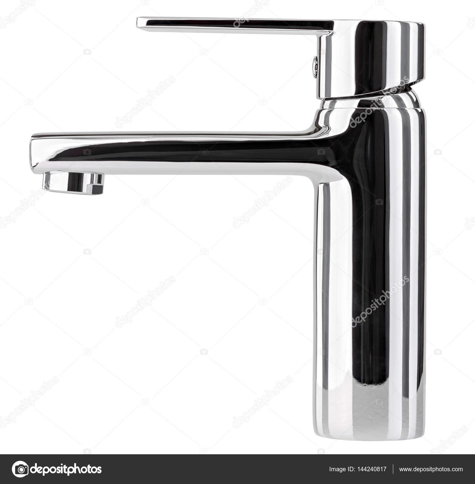 Den Wasserhahn Armatur für Bad und Küche Mixer isolat — Stockfoto ...