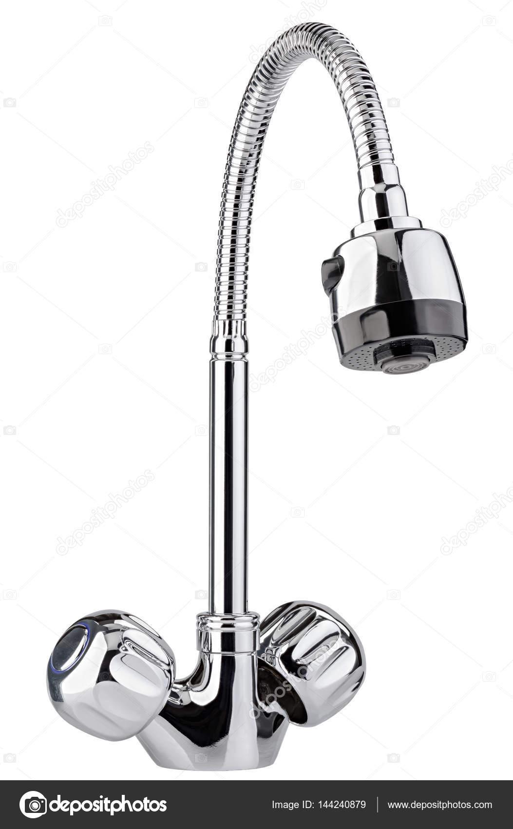 El grifo de agua, grifería para baño y cocina mezclador aisla — Foto ...